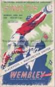 1948 FA CUP FINAL / MANCHESTER UNITED V BLACKPOOL Programme with very slightly rusty staples and