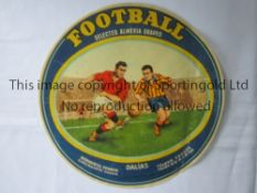 FOOTBALL ADVERT Large, football size round advert for Selected Almeria Grapes from Valencia. In