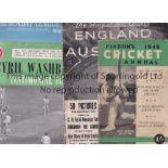 CRICKET MISCELLANY Three brochures: The Story of Cricket England v Australia 1948, Findon's