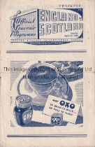 ENGLAND V SCOTLAND 1946 Programme for the International at Manchester City FC, Bolton Disaster