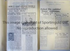 LEYTONSTONE Two scrapbooks of all Leytonstone matches from the 1948/9 and 1949/50 seasons. Both