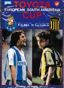 1987 INTERCONTINENTAL CUP Programme for Porto v Penarol in Tokyo. Generally good
