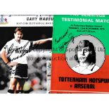 FOOTBALL AUTOGRAPHS Over 40 including Pat Jennings Testimonial Programme signed by Jennings on the