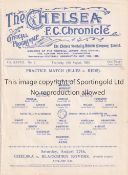 CHELSEA Single sheet programme Practice match Blues v Reds 18/8/1932. Ex Bound Volume. Generally
