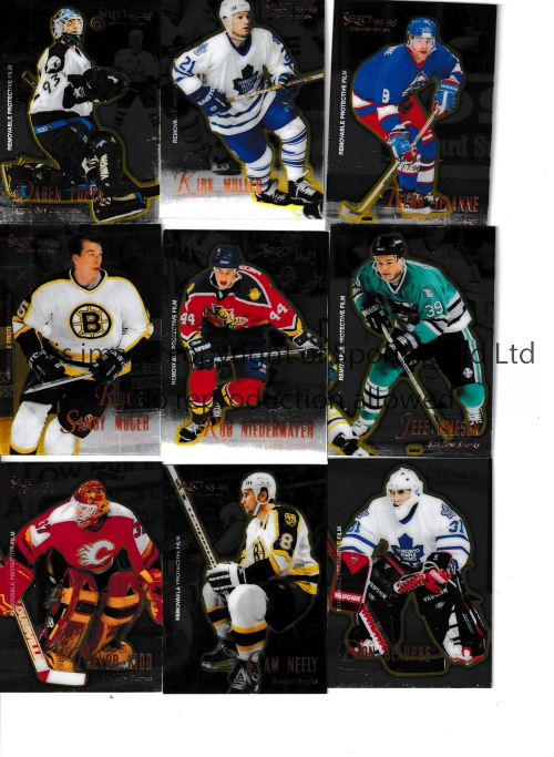 ICE HOCKEY / USA TRADE CARDS Over 130 Select 95-96 Certified Edition cards issued by Pinnacle Brands