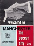 "1966 WORLD CUP / MANCHESTER CITY / MANCHESTER UNITED Small 40 page brochure ""Welcome To Manchester"
