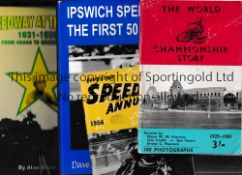 SPEEDWAY Small miscellany. Softback books: Speedway At The Firs 1931-1939 and Ipswich Speedway The
