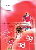 ARSENAL Twelve Statement of Accounts and Annual Reports 1997/8, 1998/9, 1999/2000, 2000/1 X 2,