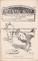 CLAPTON ORIENT V BARNSLEY 1913 Programme for the League match at Clapton 1/11/1913. Good
