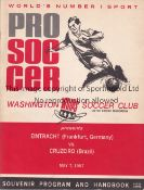 EINTRACHT FRANKFURT V CRUZEIRO 1967 IN USA Programme for Eintracht Frankfurt v Cruzeiro 7/5/1967