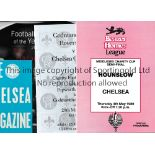CHELSEA A collection of Chelsea memorabilia to include 112 programmes 1954-2012. Also includes an