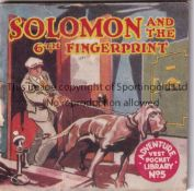 ADVENTURE MAGAZINE BOOKLET 1939 Adventure Vest Pocket Library no. 5, Solomon and the 6th