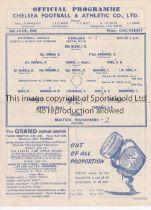 AT CHELSEA : 1945 NORTH V SOUTH WAR FINAL Single sheet programme Chelsea v Bolton Wands. 2/6/1945,