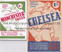 CHELSEA / MANCHESTER UNITED Two Famous Football Club issues. Original 1946/7 issue Chelsea by Reg