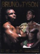 FRANK BRUNO V MIKE TYSON 1996 On site programme for the fight at the MGM Grand 16/3/1996.