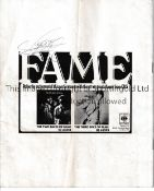 GEORGIE FAME AUTOGRAPH Programme for Count Basie and Georgie Fame from the late 1960's signed on the