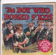 ADVENTURE MAGAZINE BOOKLET 1939 Adventure Vest Pocket Library no. 3, The Boy Who Bossed St. Kit's,