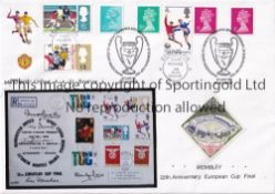 MANCHESTER UNITED First Day Cover to celebrate the 25th Anniversary of winning the European Cup by