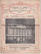 BOXING AT LIVERPOOL F.C. Programme for the boxing evening at Anfield 17/3/1932 headlining Nel