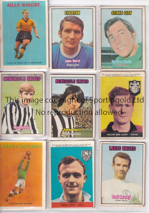 FOOTBALL TRADE CARDS Over 120 including various A & BC series, FKS stickers and 18 X Typhoo colour