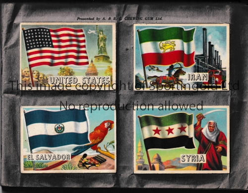FLAGS OF THE WORLD ALBUM A complete album of 80 cards issued by A & BC Chewing Gum issued in 1960.