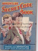 ADVENTURE MAGAZINE BOOKLET 1939 Secret Code Book, staple rusted away. Generally good