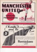 MANCHESTER UNITED V ARSENAL 1938 Programme at United 10/12/1938. Ex Bound Volume. No writing.