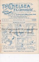 CHELSEA Programme for the home League match v. Fulham 11/10/1924, rusty staple and slightly creased.