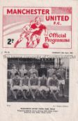 MANCHESTER UNITED / 1964 YOUTH CUP FINAL Programme for the 2nd Leg at Old Trafford 30/4/1964. United