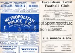 CHARLTON ATHLETIC Two away programmes v. Faversham Town 29/10/1960 Aetolian Lge and Met. Police 30/