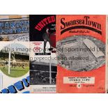 IPSWICH TOWN Eight programmes in sub-standard condition. Homes v. Southend United 27/8/1938 first