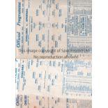 CHELSEA Three single sheet home programmes all Football League South from the 1943/44 season v
