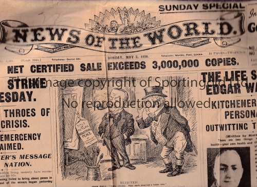 READING Three newspapers: News of the World 2nd May 1926, Football Chronicle 1st May 1926, The