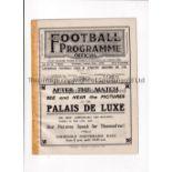 LIVERPOOL V BLACKBURN ROVERS / EVERTON RES. V LEEDS UNITED RES. 1930 Joint issue programme 30/8/