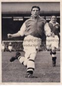 "TED DRAKE / ARSENAL An 8"" X 6"" B/W Press photo with stamp on the reverse of Drake in action for"