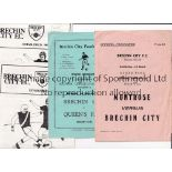 BRECHIN CITY Twenty one Brechin Home programmes 1957/58-1980/81. Includes Brechin v Montrose (SC)