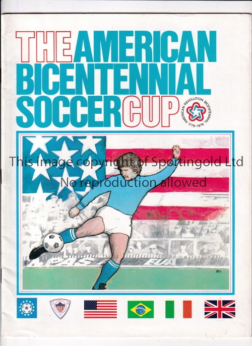 GEORGE BEST / US BICENTENNIAL CUP Programme for the Tournament including Team America which included