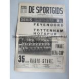 UEFA CUP FINAL 1974 De Sportsgids newspaper issue from the Feyenoord v Tottenham Hotspur UEFA Cup