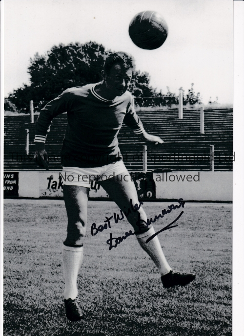 LEYTON ORIENT Three, 2 B/W and 1 colour autographed 12 x 8 photos of former players Dave Dunmore,