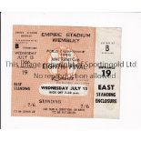 1966 WORLD CUP / UNUSED TICKET France v Mexico 13/7/1966 standing ticket at Wembley. Good