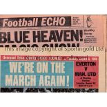 EVERTON Seventy four newspapers relating to Everton in the 1960's and 70's plus assorted player