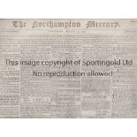 NEWSPAPERS 1600's/1700's Eight newspapers dated from 1686 to 1796. The London Gazette 21/3/1686 (
