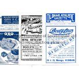 FACSIMILE FOOTBALL PROGRAMMES Three issues: Woolwich Arsenal v Tottenham Hotspur 1909, Oldham