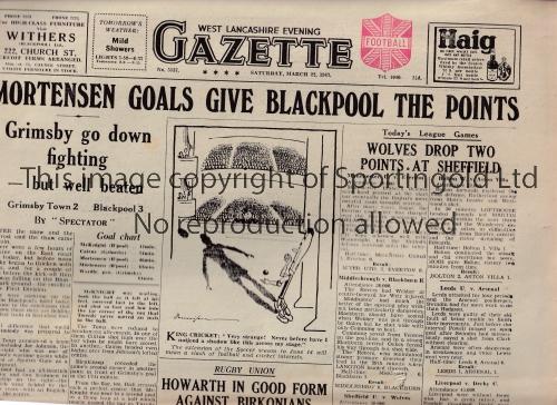 WEST LANCS EVENING GAZETTE A collection of 4 West Lancashire Evening Gazettes (Saturday Evening