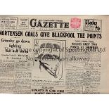 WEST LANCS EVENING GAZETTE A collection of 4 West Lancashire Evening Gazettes (Saturday Evening