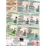ENGLAND TICKETS Seventeen home International tickets 1967 to 1988 some duplication includes Scotland