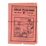 TOTTENHAM HOTSPUR V ARSENAL 1924 Programme for the London Combination match at Tottenham 20/12/1924,