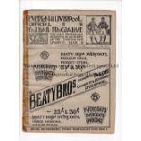 EVERTON V MANCHESTER CITY / LIVERPOOL RES. V MANCHESTER UNITED RES. 1907 Joint programme 7/9/1907