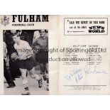 FULHAM AUTOGRAPHS / BOBBY ROBSON / JOHNNY HAYNES Johnny Haynes Remembers brochure signed on the