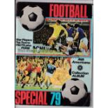 FOOTBALL STICKER ALBUMS Six albums: Chix Bubble Gum Football Picture Album complete with cards,
